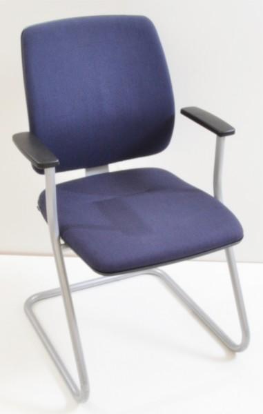 Konferenzstuhl / Freischwinger Early Bird - blau - Sedus