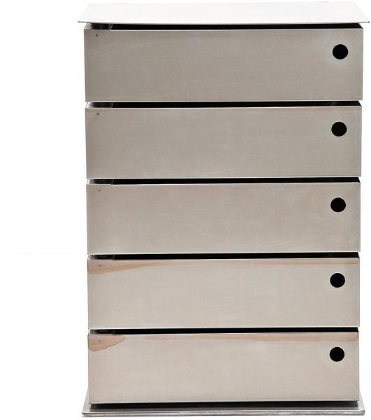 Kare Design - Kommode Manifattura - 5 Schubladen - Stahl