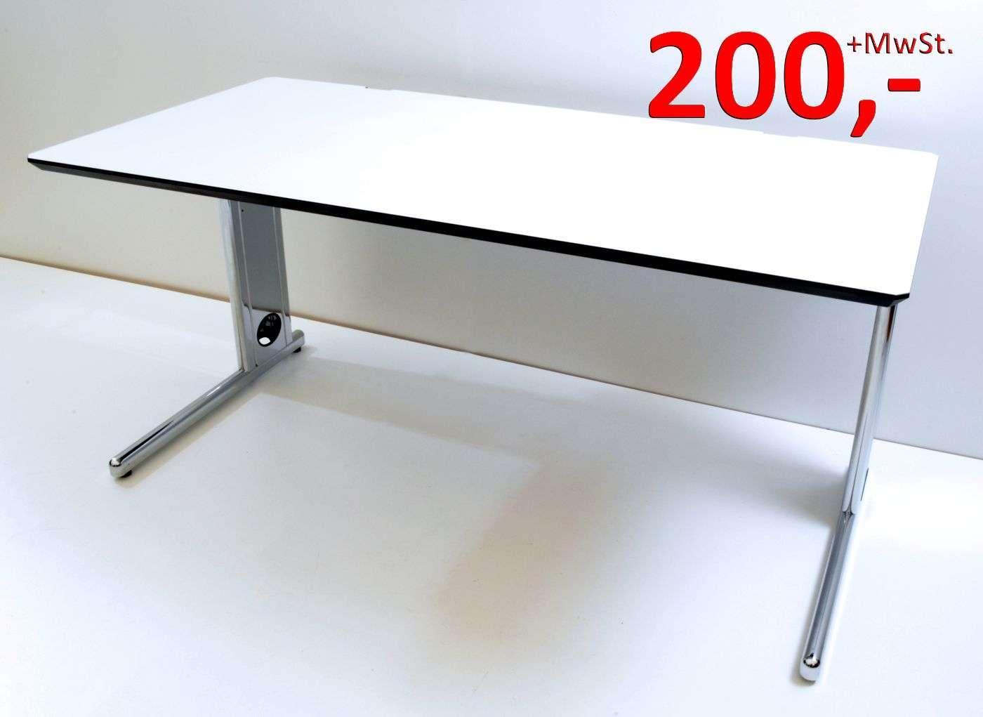 Schreibtisch - 160 cm, höhenverstellbar - weiß - Svoboda | Büromöbel ...